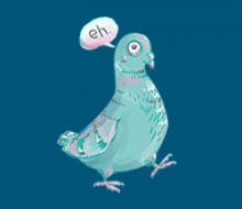 Sophisticated Pigeon